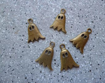 5 bronze ghost charms