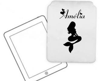 Cover for tablet pc Mermaid personalized with name