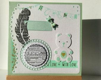 Customizable for a birth congratulations card