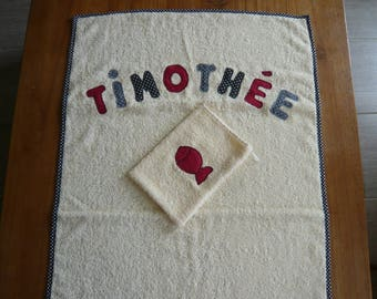 towel personalized with the name letters
