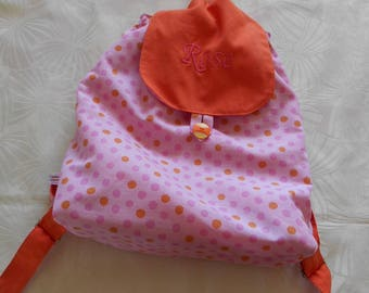 Back - taste - custom bag - purse pink and orange