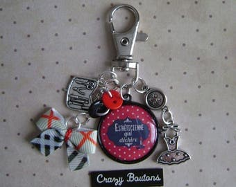 Beautician key chain