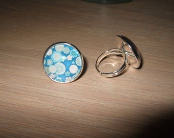 """Ring cabochon """"flower of Japan"""""""
