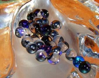 20 beads round NON DRILLED stick color Bermuda Blue Swarovski Crystal 6 mm