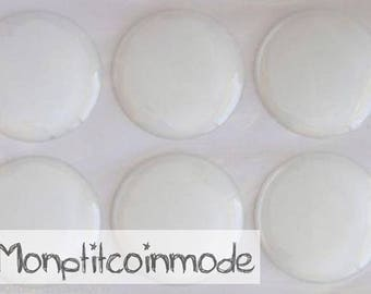 14mm - set of 6 Domes Stickers for supports cameo cabochons