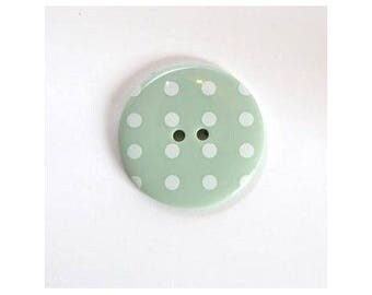 Big buttons 34mm light green dot - 001126