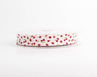 Bias cherry & Strawberry red 20 mm folded 10 mm