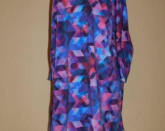Large harlequin patterned lycra dress