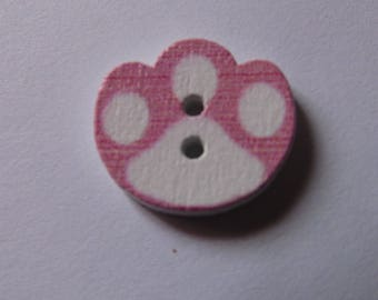 various colors to choose wooden button scrapbooking 14mmx16mm