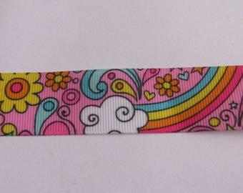 Ribbon 25mm wide multicolor grosgrain Ribbon