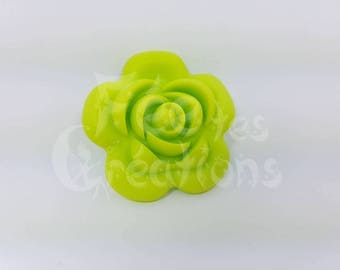 Pink light green silicone pacifier, rattle etc.