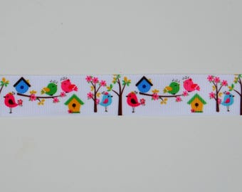 "Ribbon grosgrain ""cheep-cheep"" 22mm"