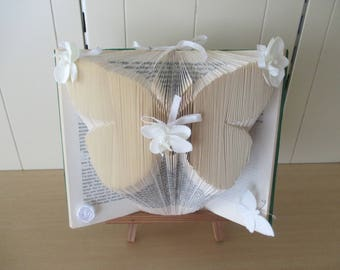 Folded book, butterfly pattern