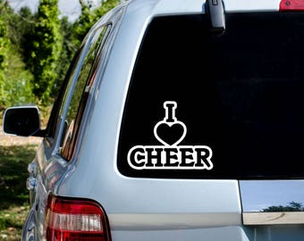 I love cheer decal