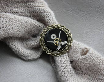 Ring round Bronze 3.5 cm Steampunk watch parts and resin