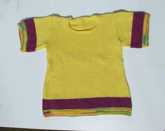 Women sweater knitted in cotton Velvet