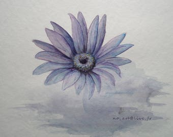 ... Blue flower watercolor painting!