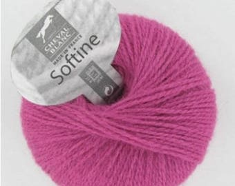 Wool knitting imitation mohair SOFTINE color Mulberry No. 002 white horse