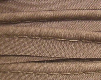 Brown Coffee / Cup plain cotton piping width 10mm, 50 cm