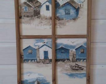 """seaside"" weathered antique window frame"
