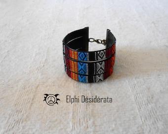"Ethics ethnic ""Peruvian"" Cuff Bracelet original fashion women's fashion."