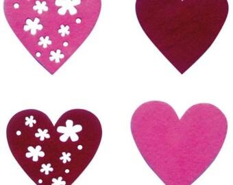 Set of adhesive felt (flowers) patterns