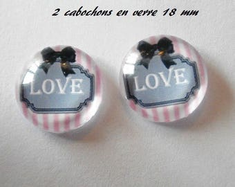 2 theme chichi 18mm domed glass cabochon