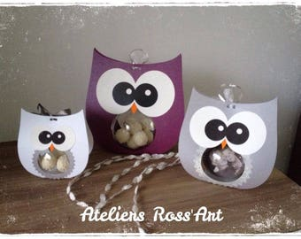 OWL 16cm high + ball plexi 8cm Christmas and new year gift