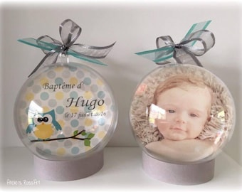 Photo gift Godfather - godmother or table decoration ball