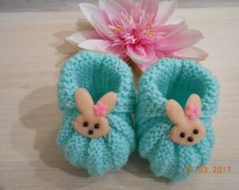 0/3 month baby bunny slippers