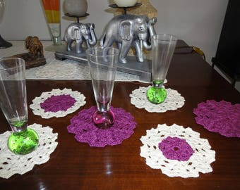 SET OF 6 PLACEMATS AND A FREE CREATED NEW CROCHET