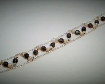 Labradorite and 925 silver bracelet