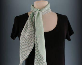 Foulard Green Mint et Etoiles