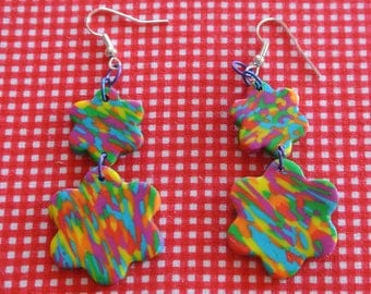 patchwork 3 earrings