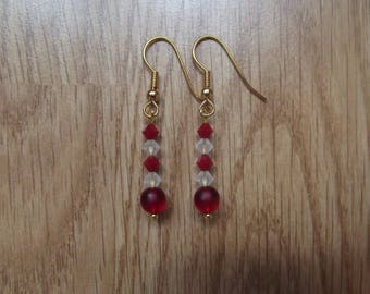 Swarovski red earrings.