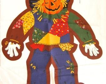 Coupon fabric VIP Cranston Print Works, haloween scarecrow, vintage fabric to make yourself DIY Haloween pattern haloween