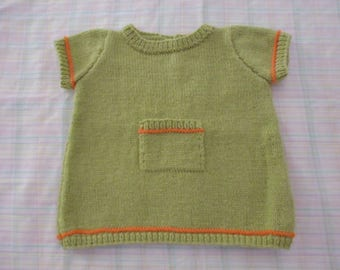 Baby hand knitted baby dress size 3 months