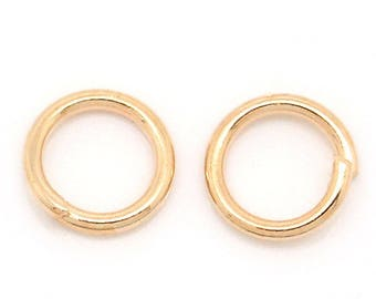 lot 100 jump rings Rose Gold 8mm round