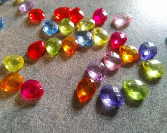 50 pendants acrylic Teardrop 10x8mm