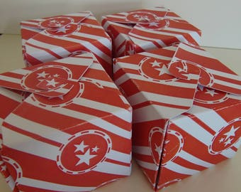 Box bristol to garnish - pattern stripes and stars
