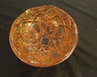 Carnival Glass Marigold Large Bowl