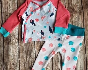 Baby diaper shirt and leggings French Bulldog 68