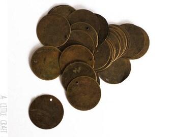 WHOLESALE LOT 80 charms / pendants Tag - bronze