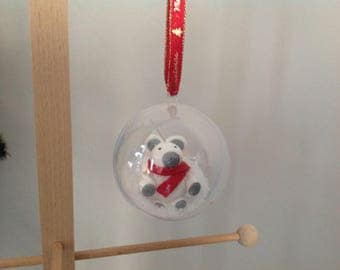 Ball personalized Christmas tree... White bear