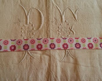 1 meter Ribbon grosgrain Ribbon 25 mm / vintage flowers