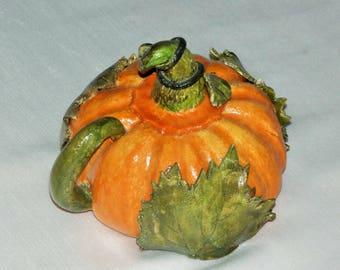 a beautiful salt dough pumpkin
