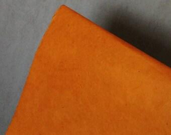 sheet of Nepalese paper 50 / 70cm orange