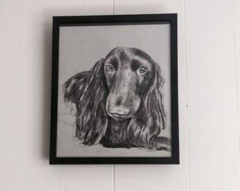 """11""""x14"""" Charcoal Pet Portrait"""