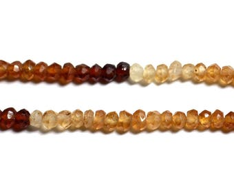 10pc - stone - 3x2mm faceted Rondelle Hessonite Garnet - 4558550090256 beads