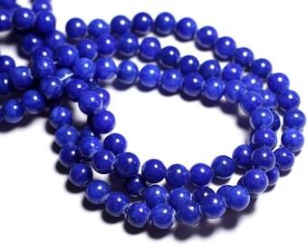 10pc - beads - Jade 8mm Royal Blue Balls - 8741140001138